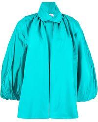 Dice Kayek Camicia con maniche a palloncino - Blu