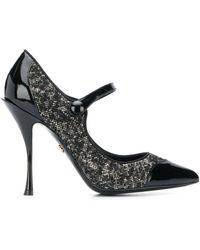 Dolce & Gabbana Lori Mary Jane Pumps - Zwart