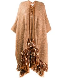 Ulla Johnson Poncho oversize - Multicolore