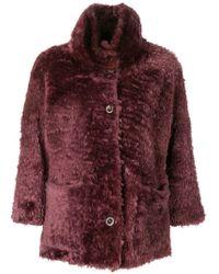 Desa - 3/4 Sleeved Fur Coat - Lyst