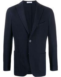 Boglioli Long-sleeved Blazer - Blue