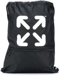 Off-White c/o Virgil Abloh Arrows Drawstring Backpack - Black