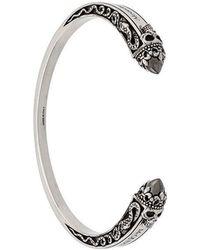 Alexander McQueen - Skull Embellished Cuff Bracelet - Lyst
