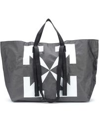 Off-White c/o Virgil Abloh Bolso shopper Arrows - Negro