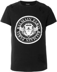 Balmain - Logo-printed Cotton T-shirt - Lyst