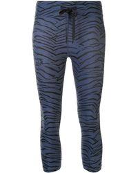 The Upside Nyc Tiger-print leggings - Blue