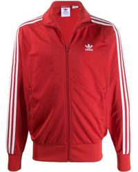 adidas Толстовка С Вышитым Логотипом - Красный