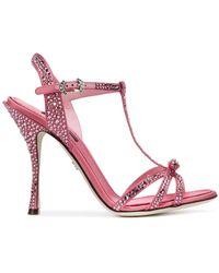 Dolce & Gabbana Sandali con cinturino a T - Rosa