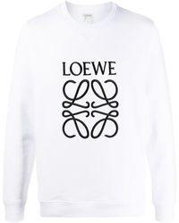 Loewe ロゴ スウェットシャツ - ホワイト