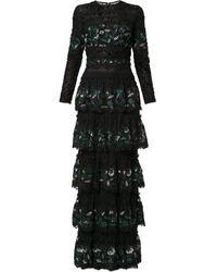 Costarellos スパンコール ドレス - ブラック