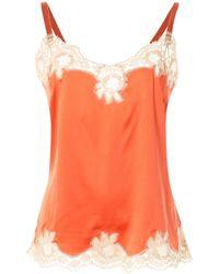 Dolce & Gabbana レーストリム キャミソール - オレンジ
