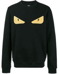Fendi Bag Bugs Eyes Sweatshirt - Zwart