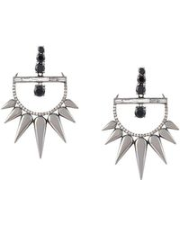 Elise Dray 18kt Gold And Diamond Drop Spiked Earrings - Metallic