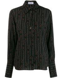 Ferragamo Printed Shirt - Black