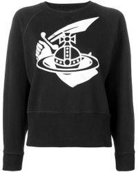 Vivienne Westwood Anglomania - Logo Print Sweatshirt - Lyst