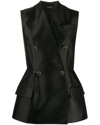 Givenchy Double-breasted Waistcoat - Black