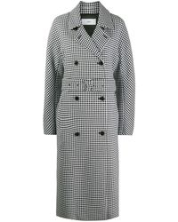 Closed Daxton Checked Trench Coat - Black