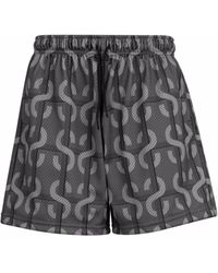 Stadium Goods Monogram Print Mesh Shorts - Black