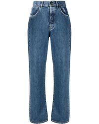 3x1 ハイライズ ストレートジーンズ - ブルー