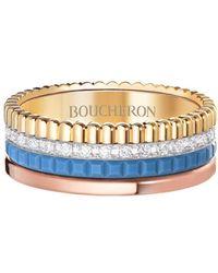 Boucheron Quatre Blue Edition ダイヤモンド リング 18kゴールド - メタリック