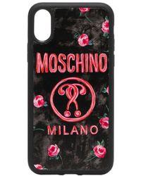 Moschino - Cover per iPhone X/XS a fiori - Lyst