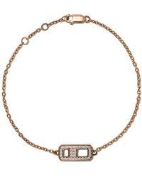 AS29 Bracelet DNA en or rose 18ct orné de diamants - Métallisé