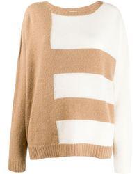 buy popular 65fa8 c160f Striped Knit Sweater - Natural