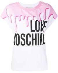 Love Moschino Logo Print T-shirt - White