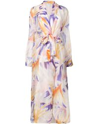 Forte Forte - Abstract Print Belted Coat - Lyst