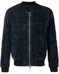 AMI ジップ スエードジャケット - マルチカラー