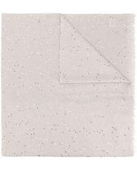 Brunello Cucinelli Трикотажный Шарф С Пайетками - Многоцветный