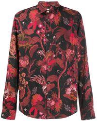 Paul Smith Hemd mit Blumen-Print - Rot