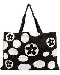 10 Corso Como Floral-print Tote Bag - Black
