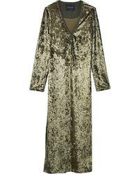 Marc Jacobs Бархатное Платье Хенли - Зеленый