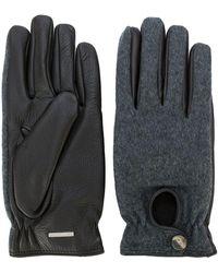 Lardini - Handschuhe mit Hirschledereinsatz - Lyst