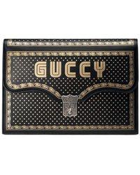 Gucci Guccy クラッチバッグ - ブラック
