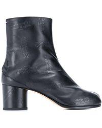 Maison Margiela All Over Logo Tabi Boots