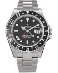 Rolex Наручные Часы Gmt Master Ii Pre-owned 40 Мм 2000-х Годов - Черный