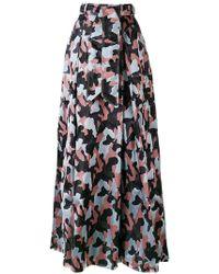 Talbot Runhof - Long Belted Skirt - Lyst