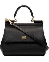 Dolce & Gabbana Petit sac cabas Sicily - Noir