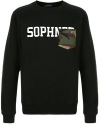 Sophnet ロゴ スウェットシャツ - ブラック