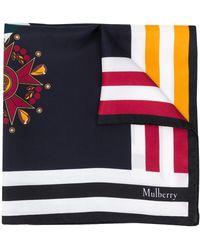Mulberry ロゴ スカーフ - ブルー