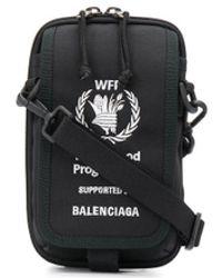 Balenciaga World Food Programme Crossbodytas Met Borduurwerk - Zwart