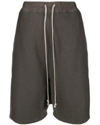 Rick Owens Drkshdw - Drawstring Drop-crotch Shorts - Lyst