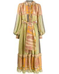 Etro - Robe longue en soie à imprimé multiple - Lyst