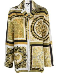 Versace Пижамная Рубашка С Принтом Baroque - Желтый