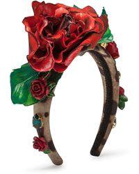 Dolce & Gabbana Декорированный Ободок - Коричневый