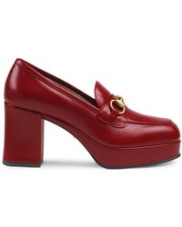Gucci Leren Loafers - Rood