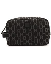 BOSS Pixel Print Wash Bag - Black
