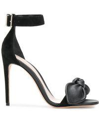 Alexander McQueen - Bow Detail Stiletto Sandals - Lyst